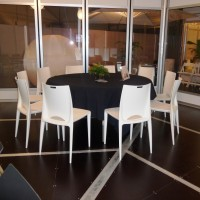 Banquet table (T3507) with the new Orbit chair (C3115)