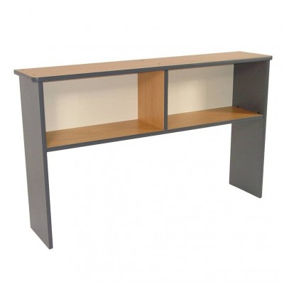 D2521 - Desk Upstand - West - Tawa & Platinum - 1600x300x1000h