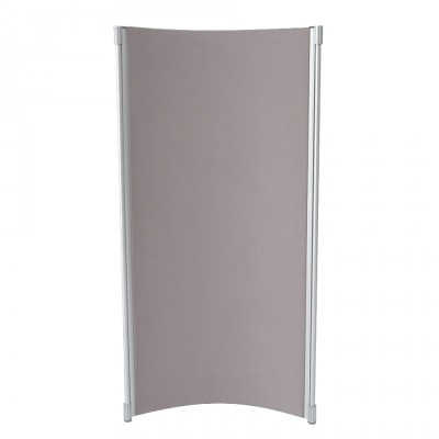 P4525 - Curved Partition Panel - Crystal grey - 1800h x 900w