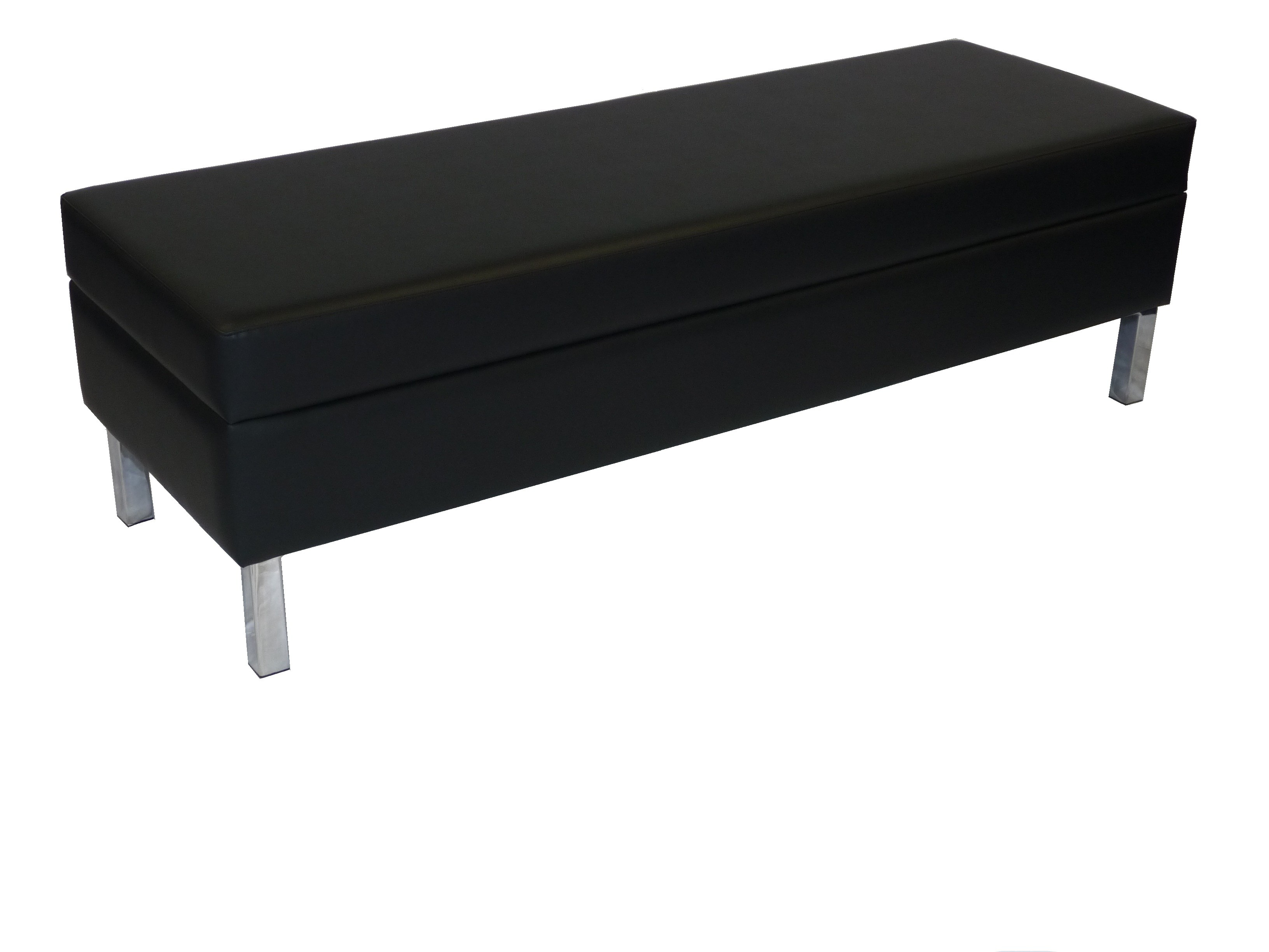 Office Furniture Hire Elite Bench Ottoman Black Office Furniture Hire