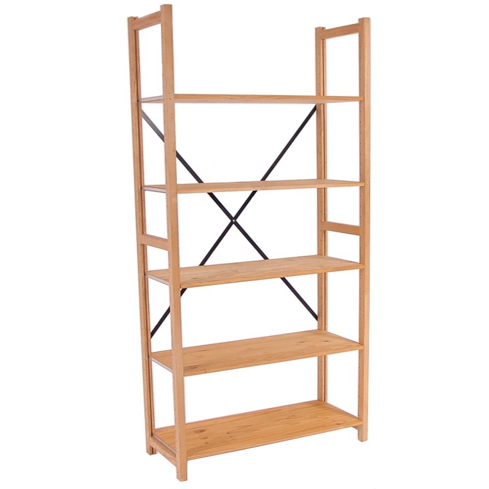 Office Furniture Hire Lundia Shelving Pine 5 Shelves 380 X 1000 X 2100h Office
